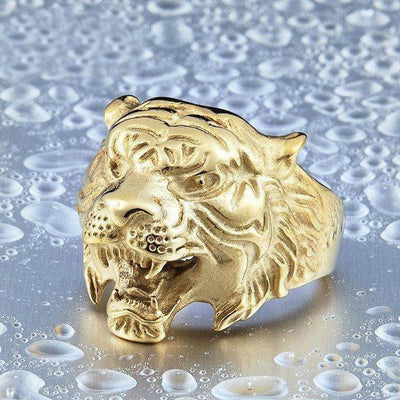 Tiger Head Ring Gold / 6 Rings