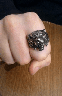 Tiger Head Ring Rings