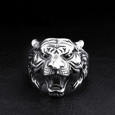 Tiger Head Ring Silver / 6 Rings