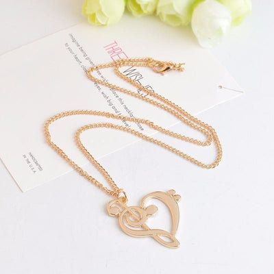 Treble and Clef Heart Pendant Necklace Necklace