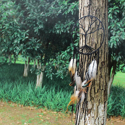 Tree of Life Dream Catcher With Natural Stone Charm Dreamcatchers