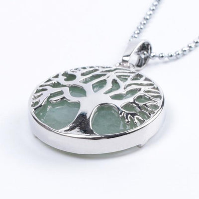Tree Of Life Healing Stone Openwork Necklace Green Aventurine Necklace