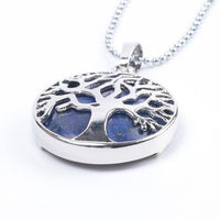Tree Of Life Healing Stone Openwork Necklace Lapis Lazuli Necklace