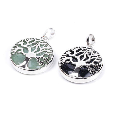 Tree Of Life Healing Stone Openwork Necklace Necklace