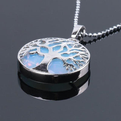 Tree Of Life Healing Stone Openwork Necklace Opal Necklace