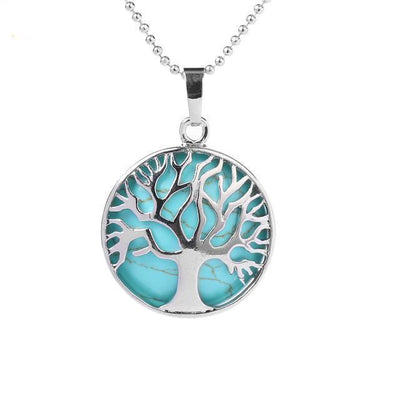 Tree Of Life Healing Stone Openwork Necklace Turquoise Necklace