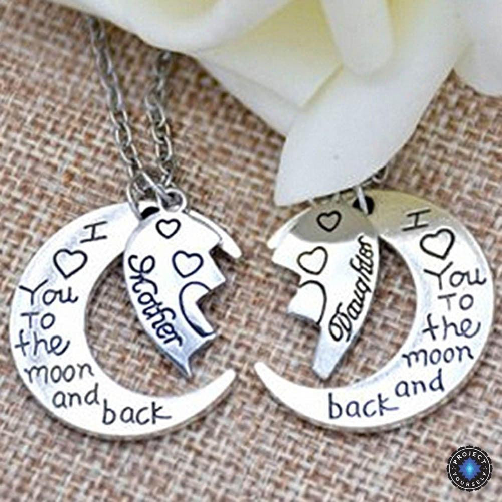 Two part heart i love you to the moon and back crescent moon two part heart i love you to the moon and back crescent moon aloadofball Image collections