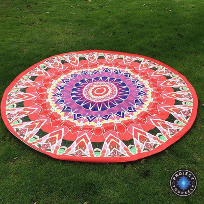 Vibrant Boho Mandala Beach Throw Style 8 Tapestry