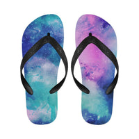 Vibrant Watercolor Universe Flip Flops for Men and Women Flip Flops for Men/Women (040)