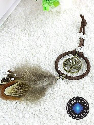 Vintage Enchanted Forest Tree of Life Mini Dream Catcher Key Ring Dreamcatchers