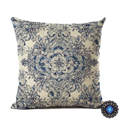 Vintage Flower Mandala Cushion Covers 45x45cm / 1 Bed Sheets