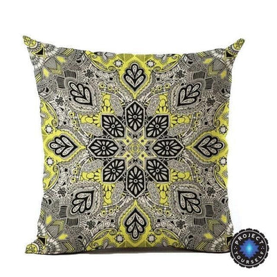 Vintage Flower Mandala Cushion Covers 45x45cm / 19 Bed Sheets