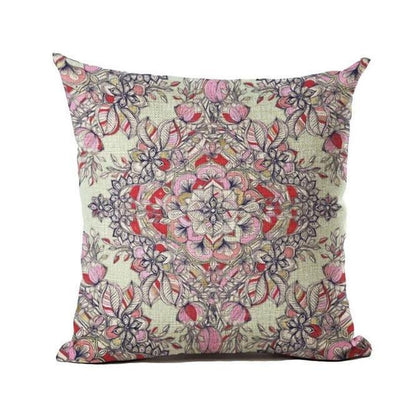 Vintage Flower Mandala Cushion Covers 45x45cm / 2 Bed Sheets