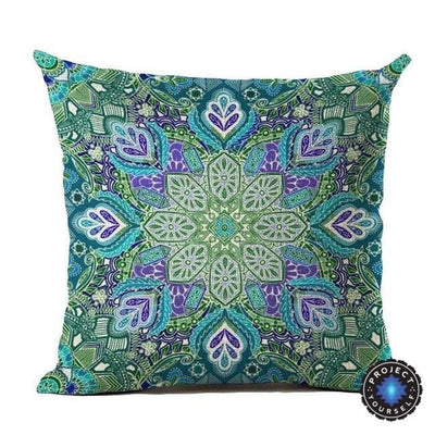 Vintage Flower Mandala Cushion Covers 45x45cm / 23 Bed Sheets