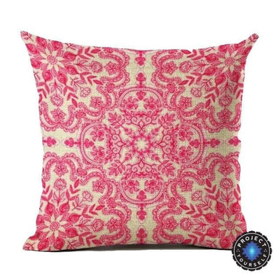Vintage Flower Mandala Cushion Covers 45x45cm / 25 Bed Sheets