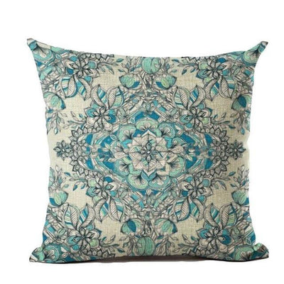 Vintage Flower Mandala Cushion Covers 45x45cm / 3 Bed Sheets