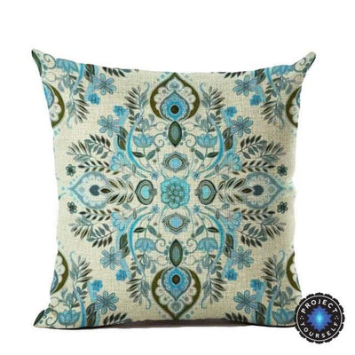 Vintage Flower Mandala Cushion Covers 45x45cm / 4 Bed Sheets