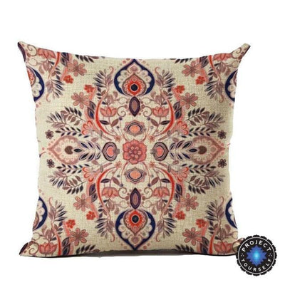 Vintage Flower Mandala Cushion Covers 45x45cm / 5 Bed Sheets