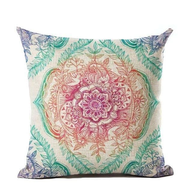 Vintage flower mandala cushion covers project yourself vintage flower mandala cushion covers 45x45cm 8 bed sheets mightylinksfo