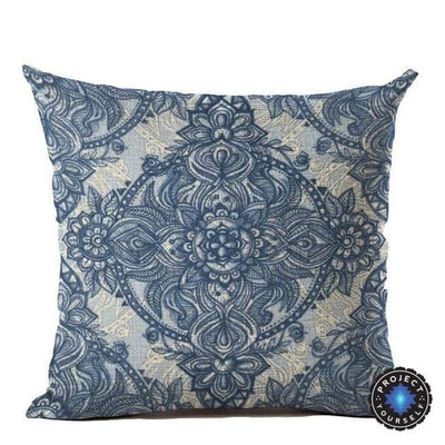 Vintage Flower Mandala Cushion Covers 45x45cm / 9 Bed Sheets