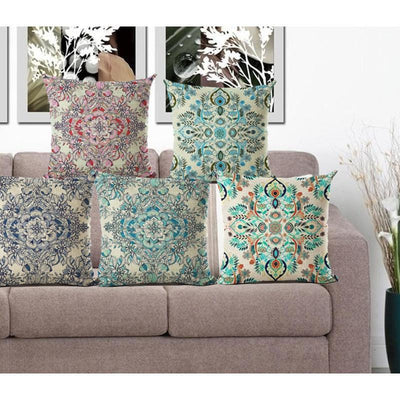Vintage Flower Mandala Cushion Covers Bed Sheets