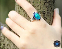 Vintage Glass Mood Ring 7 Rings