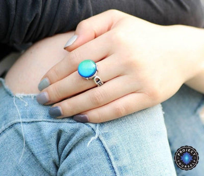 Vintage Rivets Mood Ring Rings