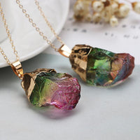 Watermelon Tourmaline Pendant Necklace Default Title Necklace