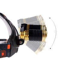 Waterproof Headlamp with Rechargeable Batteries LED Headlight Headlamp