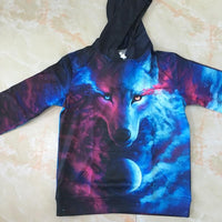 Where Light And Darkness Meet Wolf Hoodie Clothing