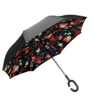 Wind Proof Reverse Folding Umbrella Floral - Red Accessories