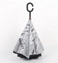 Wind Proof Reverse Folding Umbrella News - White Accessories