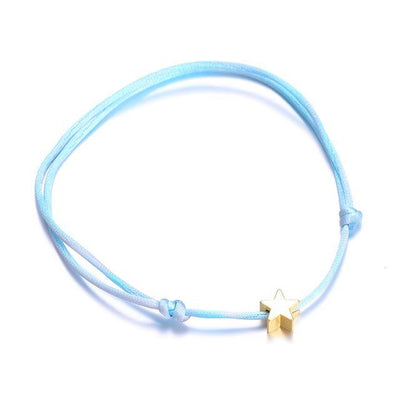 Wishes Lucky Handmade Rope Bracelet Blue Bracelet