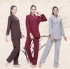 Women's Long Sleeve 2-Piece Meditation Clothing Set Clothing