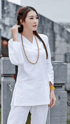 Women's Long Sleeve 2-Piece Meditation Clothing Set White / S Clothing