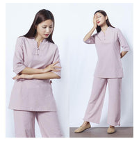 Womens Cotton Meditation 2-Piece Set Clothing
