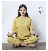 Womens Cotton Meditation 2-Piece Set Ginger / S Clothing