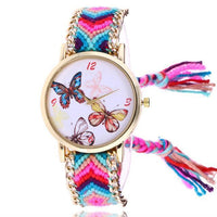 Woven Braided Bracelet Butterfly Watch A Watch