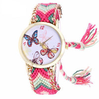 Woven Braided Bracelet Butterfly Watch B Watch