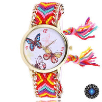 Woven Braided Bracelet Butterfly Watch E Watch