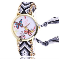 Woven Braided Bracelet Butterfly Watch F Watch