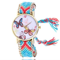 Woven Braided Bracelet Butterfly Watch H Watch