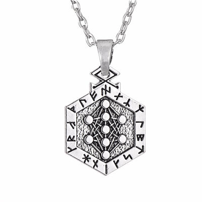 Yggdrasil Tree of Life Pendant Necklace Link Chain Necklace