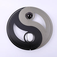 Yin Yang Stainless Steel Wind Spinner Decor