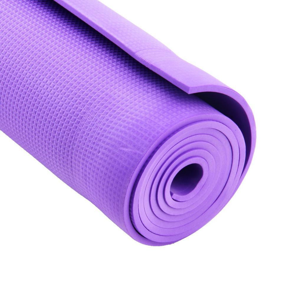 thick exercise inch yoga and shop foam extra premium mat comfort blue high with long carrying spoga straps density mats