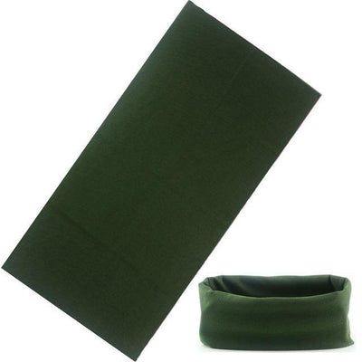 Yoga Stretch Headwrap Headband Bandana Army Green Headband