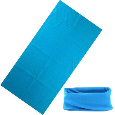 Yoga Stretch Headwrap Headband Bandana Bright Blue Headband