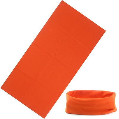 Yoga Stretch Headwrap Headband Bandana Orange Headband
