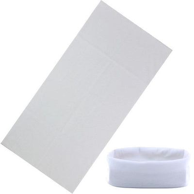 Yoga Stretch Headwrap Headband Bandana White Headband