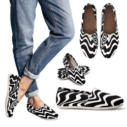 Psychedelic Zebra Women's Casual Shoes